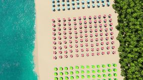 Beach Sunny Day from above 3D rendering stock footage