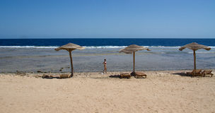 Beach. Sunny day on the beach in Hurghada Stock Photography