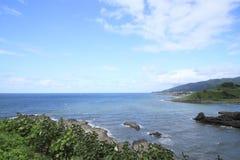Beach on the sunny day on japan sea Royalty Free Stock Photos
