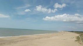 A beach. A sunny beach in France Stock Image