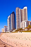 Beach at Sunny Islands, miami early Royalty Free Stock Image