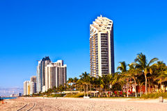 Beach at Sunny Islands, miami early Stock Photography