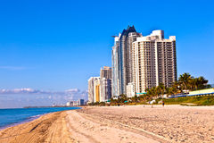Beach at Sunny Islands, miami early Stock Image