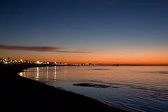 Beach Sunrise. Dramatic Sunrise on the Mississippi Gulf Coast royalty free stock photography