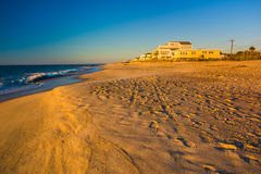 The beach at sunrise at Edisto Beach, South Carolina. Stock Photography