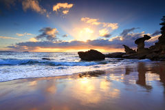 Beach sunrise at Noraville NSW Australia Stock Photography