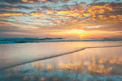 Beach Sunrise North Carolina Outer Banks Stock Photography