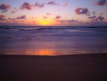 Beach sunrise. Sunrise in Porto de Galinhas beach - Recife - Brasil Royalty Free Stock Images