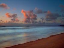 Beach sunrise. Sunrise in Porto de Galinhas beach - Recife - Brasil Royalty Free Stock Image
