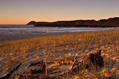 Beach sunrise scene , ocean Royalty Free Stock Image