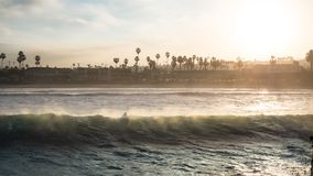 Beach Sunrise Surfer. Ocean Beach Morning Stock Images