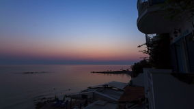 Beach sunrise timelapse stock footage
