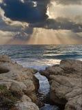 Beach sunset. Beautiful sunset at the beach Stock Photos