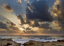 Beach sunset. Beautiful sunset at the beach Stock Photo