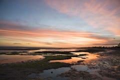Beach Sunset. Inner Suburban Melbourne Beach, Altona Stock Photos
