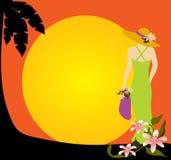 Beach Sunset royalty free illustration