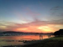 Beach. And Sunset Stock Photo