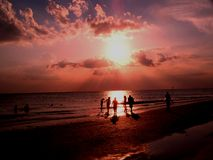 Beach Sunset #5 Royalty Free Stock Photo