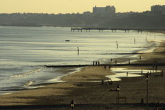 Beach at sunset. Beautiful seaside beach scene at sunset Royalty Free Stock Photos
