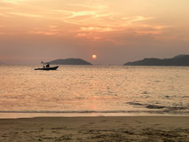 Beach_sunset Immagini Stock Libere da Diritti