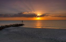 Beach sunset. Gulf of mexico beach sunset Royalty Free Stock Photos
