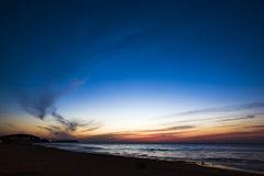Beach and sunset Stock Photography