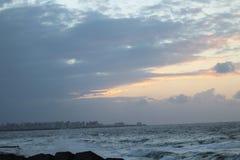Beach sunset alexandria stock image