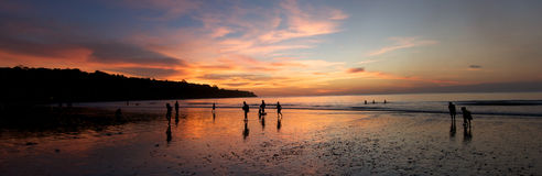 Beach sunset Bali Stock Photos