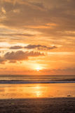 Beach sunset. Balinese sunset from Seminyak beach Royalty Free Stock Image