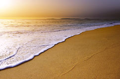 Beach Sunset Royalty Free Stock Photography