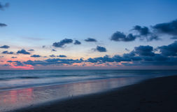 Beach sunset with beautiful skyline afterglow Royalty Free Stock Photos