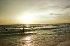 Beach. Sunset at Boracay Island in the Philippines Stock Image