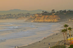 Beach at Sunset, California Stock Photography
