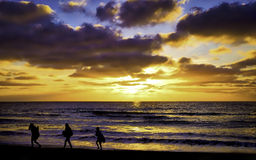 Beach at Sunset, Del Mar, California Royalty Free Stock Images