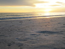 Beach Sunset Florida. Beach Sunset on the Sand at Lido Beach Florida Stock Photo