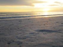 Beach Sunset Florida. Beach Sunset on the Sand at Lido Beach Florida stock photo
