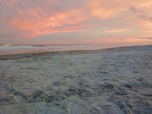 Beach at sunset on Hilton Head Island, South Carolina stock photo