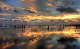 The Beach at Sunset Royalty Free Stock Photography