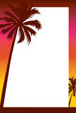 Beach Sunset Invitation/Border Royalty Free Stock Image
