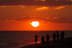Madaket sunset, Nantucket. Ma Stock Image