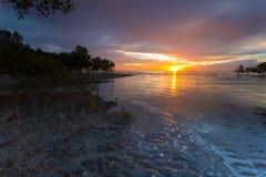 Beach during sunset Royalty Free Stock Photos