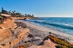 Beach Sunset in La Jolla, California Royalty Free Stock Image