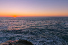 Beach Sunset in La Jolla, California Royalty Free Stock Photo