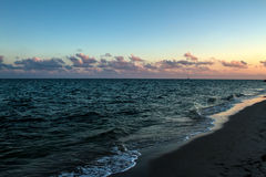 Beach at sunset Royalty Free Stock Image