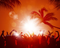 Beach Sunset Party Stock Photos