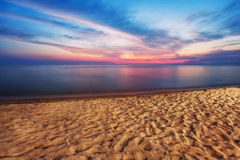Beach at sunset Royalty Free Stock Photography