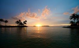 Beach Sunset in Sabah Malaysia Stock Photos