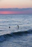 Beach Sunset Silhouette Stock Photography