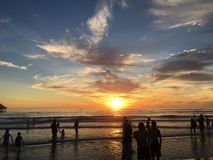 Sunset California Los Angeles. Beach sunset sky Stock Photography