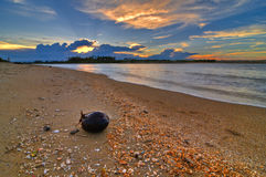 Beach at sunset. South East Asia beach during sunset Royalty Free Stock Image